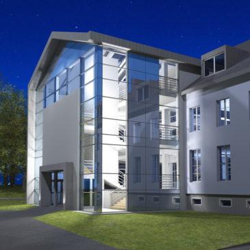 Przebudowa fasady biblioteki Karkonoskiej Państwowej Szkoły Wyższej